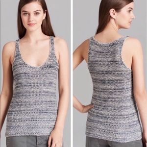 Vince blue knit Racerback Marled Sweater Tank
